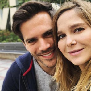 El 'selfie' familiar más divertido y natural de Natalia Sánchez y Marc Clotet